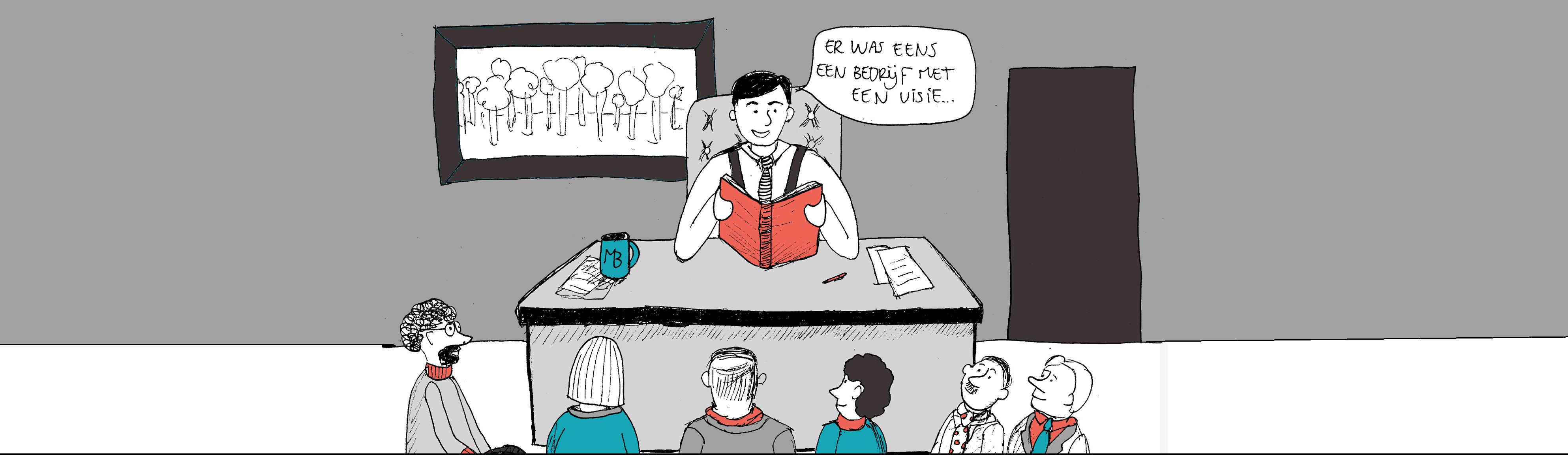 Teksten verhaal ondernemers voorlezen boek